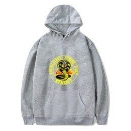 boys popular hoodies 2021 - Black Hoodies Men Women Sweatshirts Harajuku Hip Hop Hooded COBRA KAI boys girls Casual Popular pullovers erew