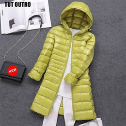 Wholesale packable puffer jacket resale online - 7XL Women s Packable Down Coat Lightweight Plus Size Puffer Jacket Hooded Slim Warm Outdoor Sports Travel Parka Outerwear
