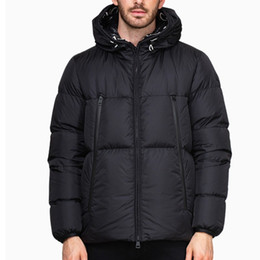 Wholesale men winter coats for sale - Group buy Men Winter Jacket Coat Windbreaker White duck down Thick Warm Hooded High Quality parka puffer jacket Letters embroidery Winter Jacket