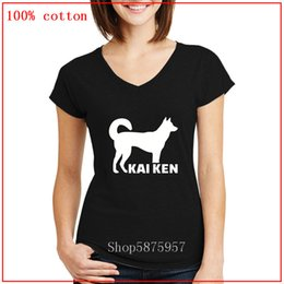 Wholesale 90s grunge clothing online – design 2020 New Kai ken dog Funny Cartoon female V neck T Shirt Harajuku Ullzang s T shirt Grunge Graphic Cute women clothes T shirt