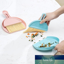 small desktop computers 2021 - Simple Desktop Mini Broom Keyboard Cleaning Brush Small Broom With Dustpan Set Computer Debris Household Tool Accessories