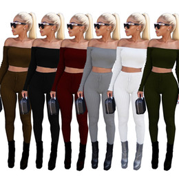 hot yoga clothes set 2021 - Hot Women tracksuit jumpsuits 6 colors women clothing 2 piece set joggers gymshark womens clothes Women Two Piece Outfit