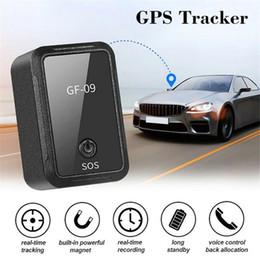 NUEVO GF-09 MINI GPS Tracker Control de aplicaciones anti-robo Localizador de dispositivos magnéticos Grabador de voz para vehículo / automóvil / persona Ubicación en venta