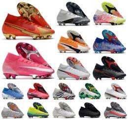 Wholesale Hot 2021 Superfly VII 7 360 Elite SE FG CR100 Rosa Panther CR7 Ronaldo Neymar Mens Boys Soccer Shoes Football Boots Cleats US3-11