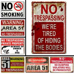 Wholesale metal fences online – design Warning No Stupid Metal Sign Fence Hanging Borad Beware Of The Dog Logo Iron Sign Plaques There Are Dogs Metal Warning Sign Door Hanging