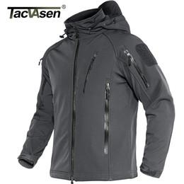 Wholesale military fleece jackets resale online – TACVASEN Tactical Fleece Lined Waterproof Jacket Mens Military Air Soft Jacket Coat Safari Windbreaker Winter Warm Army Jacket