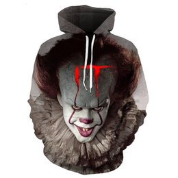 clown film UK - Horror Movie IT Clown 3D Printed Hoodie Sweatshirts Men Women Freddy Jason Film Pullover Tops Hip Hop Casual Oversized HoTD0T