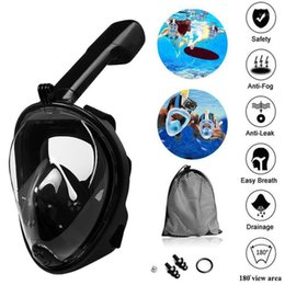 full dive mask NZ - Swimming Seaside Silicone Diving Mask Anti-fog Detachable Diving Snorkeling Full Face Mask Foldable Anti Fog Fully Dry1