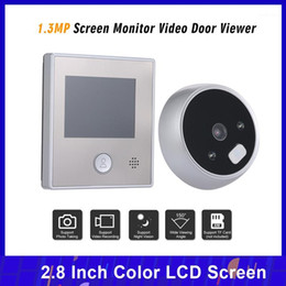 "1.3MP Video Intercom System Peephole Door Camera 2.8"" Color Screen Doorbell Doorbell Residential Security Video Door Phone1 on Sale"