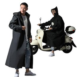 Wholesale designer jackets sale men for sale – winter Hot Sale EVA Raincoat Women Men Zipper Hooded Poncho Motorcycle Rainwear Long Style Hiking Poncho Environmental Rain Jacket