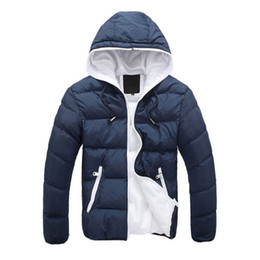 Wholesale red winter jackets for men for sale – warmest winter 2018 new Brand winter Jacket for men hooded coats casual mens thick coat male slim casual cotton padded down outerwear