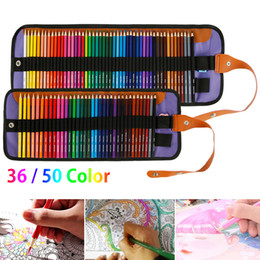 36 50 Colors Professional Oil Color Pencils Set Artist Painting Sketching Color Pencil Hand-Painted School Office Art Supplies 201202 on Sale