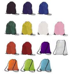 Wholesale dance bags resale online - NEW Gym Swim School Dance Shoe Boot PE Drawstring Bag Backpack Portable String Bag Drawstring Backpack DHC860