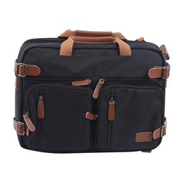 Discount big handbags for travel 15 Inch Convertible Briefcase Men Business Handbag Messenger Bag Casual Laptop Multifunctional Travel Bags For Male Big