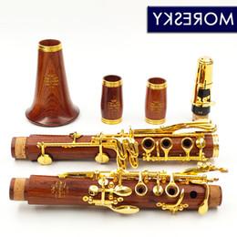 Опт MORESKY Red Wood Professional кларнет Rosewood красное дерево ЬВ кларнет Позолоченные ключи массива дерева Sib KLARNET