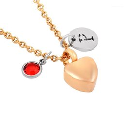 heart shaped necklace gift box 2021 - IJMD0064 Stainless Steel Cremation Heart Shaped Box Pendant Necklace Memorial Urns Commemorative Gift for Women Jewelry1
