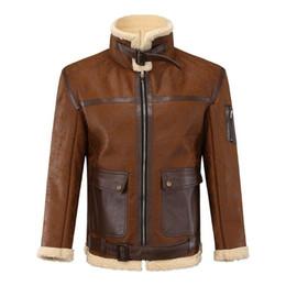 Wholesale wool leather motorcycle jacket resale online - 2020 Winter New PU Leather Jacket Men Thick Warm Wool Liner Keep Warm Windbreaker Coat Men Faux Leather Motorcycle Jacket Man