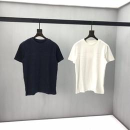 2020s spring e verão novo de alta grau de algodão de impressão de manga curta rodada painel de pescoço t-shirt Tamanho: M-L-XL-XXL-XXXL Cor: preto branco Q62 em Promoção