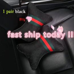 2 PC-Auto-Kissen-Sitzkopfstütze Kissen Qualität für Auto-Sitzabdeckung Kissen Sicherheitsgurt Buchten Lenkradabdeckung Rosa für BMW für Be im Angebot