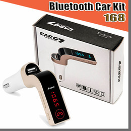 Wholesale Car Wireless Bluetooth MP3 FM Transmitter Modulator 2.1A Car Charger Wireless Kit Support Hands-free G7 With USB Car Charger With Package
