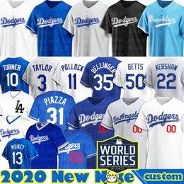 Venta al por mayor de Dodgers jerseys Mookie Betts Jersey Cody Bellinger Enrique Hernández personalizado Clayton Kershaw béisbol Justin Turner de Los Ángeles Corey Seager