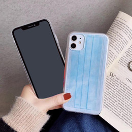 iphone mask NZ - TPU mobile phone shell Cover Creative mask phone case for iphone11 pro max 7 8 plus X XR XS Max SE