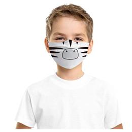 Wholesale anime cloths resale online - Protec Face Maske For Kids Girls Cartoon Anime Design Masks Children Filter Mask Washable Fabric Cloth Facemask Adjust Bandage sqcFXj