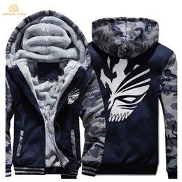 Wholesale ichigo kurosaki for sale - Group buy Hampson Lanqe Japan Anime Bleach Kurosaki Ichigo Harajuku Sweatshirt Men Winter Warm Fleece Plus Size Men s Thicken Hoodies