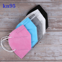 Wholesale KN95 Mask Factory 95% Filter colorful Activated Carbon Breathing Respirator Valve 6 layer face masks individual packages free ship
