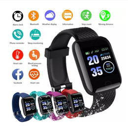 ingrosso orologi a misura-116 Plus Smart Watch Plus Multifunzionale Bracciale Sport Braccialetto Smart Wristband IP67 Fit Bit Smart Digital WristWatches Hot Hot Hot Hot Hot