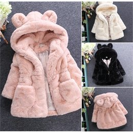 Wholesale 3d coat girl for sale – custom Winter Yrs Children Girls D Rabbit Ear Hooded Warm Coat Clothes Kids Long Sleeve Outerwear Baby Girls Jackets Outfits X0923
