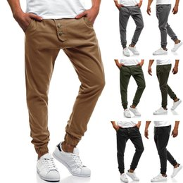 Wholesale leggings for men resale online - Solid Color Sweatpant for Man Jogging Pencil Pants Men Casual Leggings Fitness Gym Jogger Bodybuilding Running Pants