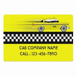 Wholesale taxi drivers resale online - Yellow Checked Taxi Cab Company Business Personalised Welcome Door Mat New York Cabs Service Driver Custom Doormat Rug Carpet lArl