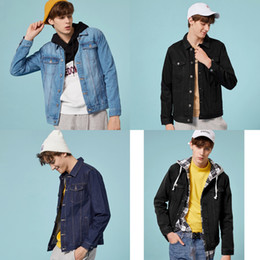 Wholesale demin jackets resale online - SEMIR denim Jacket men jaqueta masculino cotton clothes fashion casual jackets man outwear Spring turn down collar demin coat Z1210