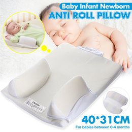 anti flat head pillow baby Australia - Baby Care Infant Newborn Anti Roll Pillow U ltimate Vent Sleep Fixed Positioner Prevent Flat Head Sleeping Cushion LJ201014