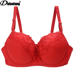 Wholesale full line bra for sale - Group buy Hot Full Bras Plus Size Big Underwear Wireless Adjustable Lace Womens Bra Breast Lining Bcde Cup Large Lingerie