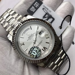Wholesale Top high quality brand watches men's automatic movement calendar type stainless steel strap watch