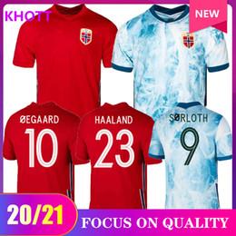 venda por atacado novo 20 21 Norway Futebol 2020 2021 noruega Haaland Ødegaard Berge Rei Camisetas de fútbol Fardas equipa de futebol nacional Tailândia