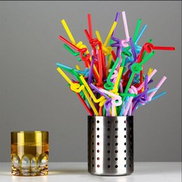 100Pcs Pack Flexible Straws For Birthday Wedding Party Event Supplies Decorative Bubble Cocktail Party Straws Kitchen Gadget Uwafh