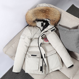 Wholesale canadian goose jacket resale online – Suit Men s and Women s Fashion Canadian Geese Working Dress Jacket White Duck Hooded Down Coat N8