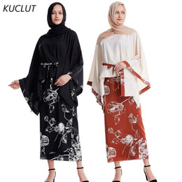 Wholesale ensemble fashion resale online - KUCLUT Dubai Abaya Turkish Muslim Fashion Top Wrap Skirt Islamic Clothing Abayas Set for Muslim Ensemble De Mode Piece Set