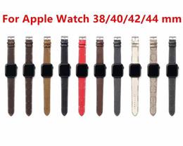 Luxury Designer Watchbands Bands Band Band 42 мм 38 мм 40 мм 44 мм Iwatch 2 3 4 5 полосы Кожаный ремешок браслет мода полоса для наблюдения на Распродаже