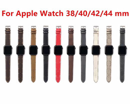 Wholesale luxury designer Watchbands Watch Band 42mm 38mm 40mm 44mm iwatch 2 3 4 5 bands Leather Strap Bracelet Fashion Stripes watchband