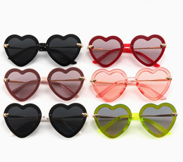 kids fashion sunglasses wholesale Australia - Fashion Kids Hearts sunglasses girls love heart frameless sunglasses children princess sunglasses Valentine's Day kids accessories F8387