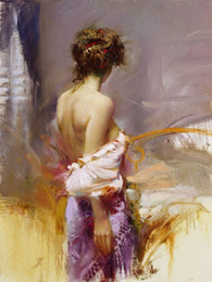 portrait canvas prints Australia - Pino Daeni Portrait Framed & Unframed Home Decor Handpainted &HD Print Oil Painting On Canvas Wall Art Canvas Pictures- R2017023