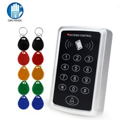 Wholesale RFID Controller Standalone Access Control Keypad with 10 EM4100 4200 keychains 125KHz Card Reader For Door Access Control System1