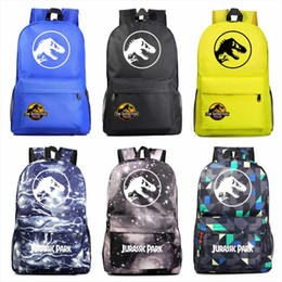 white schoolbags Canada - Fashion Adventure Dinosaur Jurassic Park World Boy Girl Book School bag Women Bagpack Teenagers Schoolbags Men Student Backpack