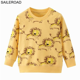 lion hoodies sweatshirt NZ - SAILEROAD Lion Print Spring Boys Brand Clothes Children Hoodies & Boy Cotton Animal Pattern Kids Sweatshirts 201222