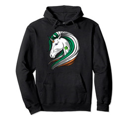 Royal Blue Flag Ireland Irish Unicorn Hoodie Unisex S-5XL preto / cinza / Marinho / / Dark Heather