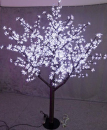 Discount led indoor cherry tree lighting NEW LED Christmas Light Cherry Blossom Tree 480pcs LED Bulbs 1.5m 5ft Height Indoor or Outdoor Use Free Shipping Drop Shipping Rainproof